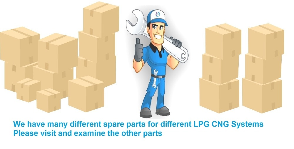 We have many different spare parts for different LPG CNG Systems yazili