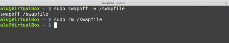 5. Removing a Linux swwap file