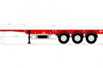 Полуприцеп-контейнеровоз Grunwald  универсальный усиленный