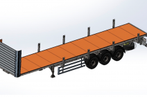Полуприцеп-платформа Grunwald для перевозки негабаритных грузов