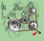 Замена ролика натяжителя ремня генератора – Как поменять ролик натяжителя ремня генератора: снятие, замена и установка